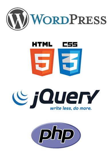 Programació: WP, HTML5, CSS3, JQuery, PHP